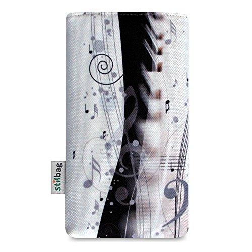Stilbag Tasche 'MIKA' für Apple iPhone 7 plus - Design: Pink Loops Piano Music