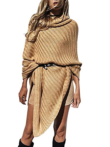 Simplee-Apparel-Womens-Winter-High-Turtle-Neck-Cable-Ribbed-Knitted-Wrap-Shawl-Jumper-Poncho-Top