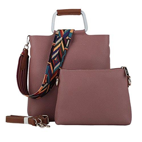 DISSA ES860 neuer Stil PU Leder Deman 2018 Mode Schultertaschen handtaschen Henkeltaschen set,270×75×265(mm) Dunkelrot