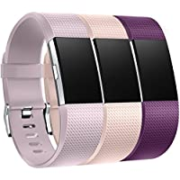 Fitbit Charge 2 Armband, HUMENN Charge 2 Armband Weiches Silikon Sports Ersetzerband Fitness Verstellbares Uhrenarmband für Fitbit Charge2