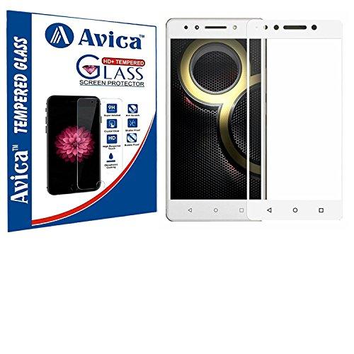 AVICA Full Edge to Edge Cover White Tempered Glass Screen Protector for Lenovo K8 Note/Killer Note image