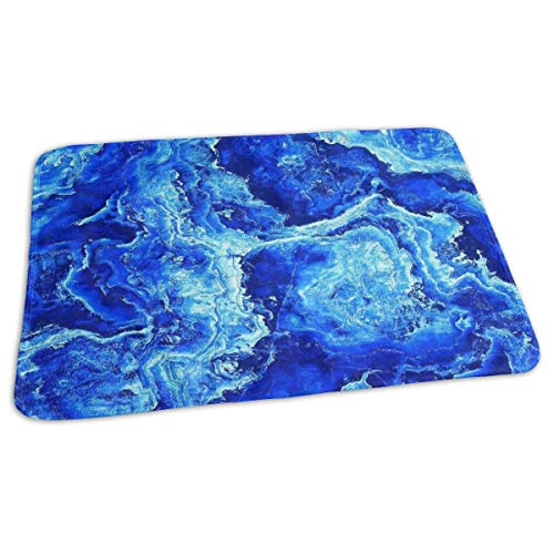 Kotdeqay Baby Changing Pad Liners Blue Marble Texture HD Daily Use Diaper Changing Pad Mats Portable Pad 25.5x31.5 Inches