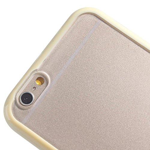 Wkae Case Cover TPU Auto Frame + Matte durchsichtigem Kunststoff zurück Fall für das iPhone 6 & 6S ( SKU : S-IP6G-0123W ) S-IP6G-0123