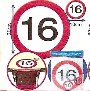 Folat B.V. Mesa y montañas Taza de 16 Cumpleaños señal de tráfico