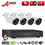 ANRAN 4 Channel 1080P POE NVR System Home Video Surveillance P2P System