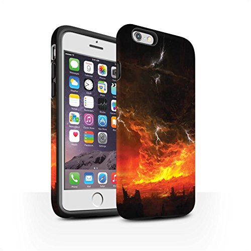 Offiziell Chris Cold Hülle / Matte Harten Stoßfest Case für Apple iPhone 6S / Baum des Wissens Muster / Gefallene Erde Kollektion Apokalypse