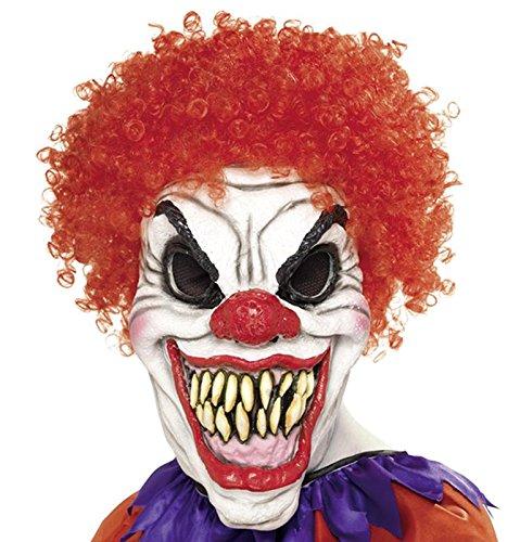 (Horror Clown Maske Evil Horrorclown Red - Halloween & Fasching - Einheitsgröße für Erwachsene)
