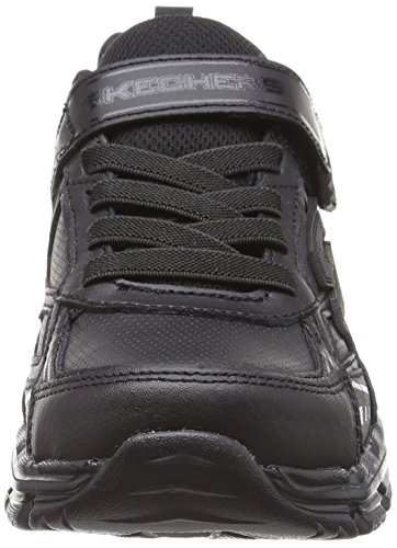 Skechers Nitrate, Sneakers Basses Garçon Noir (Bbk)
