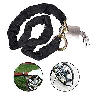 AWinEur 10mm x 1.2m Heavy Duty Motorbike Motorcycle Bike Bicycle Cycle Chain Lock Padlock with 4 Keys (10mm Steel Dia x 1.2m Long)