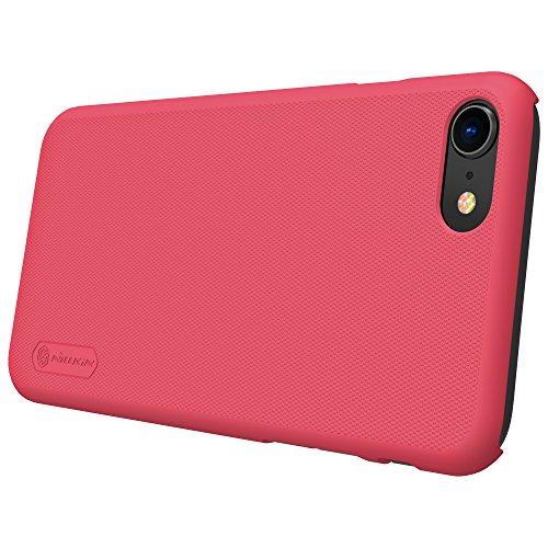 Meimeiwu Super-Frosted Tasche Qualitativ hochwertiges Back Cover Schutzhülle mit Displayschutz für iPhone 8 - Rot Rot