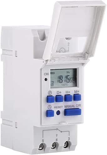 Minuterie programmable Affichage LCD Commutateur hebdomadaire de relais /électronique programmable hebdomadaire avec minuterie /à 8off Minuterie num/érique AC // DC24V