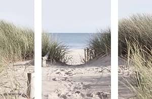Eurographics DP-DT7084 Set de 3 stickers muraux Come to the beach 50 x 70 cm