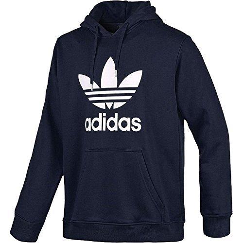 8be4abac08 adidas Originals - Felpa con Cappuccio e Logo a Trifoglio, da Uomo, Taglia  XL, Colore Blu Indaco f08 / Bianco