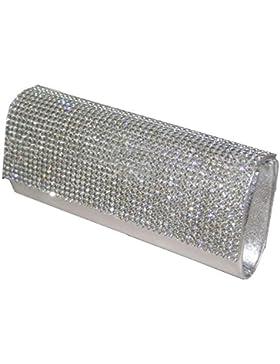 fi9® , Damen Clutch Silber silber