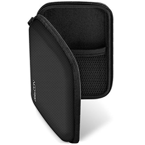 deleyCON Navi Tasche Navi Case Tasche für Navigationsgeräte - 4,3 Zoll & 5 Zoll (14,6x9,3x3,4cm) - Robust Stoßsicher 2 Innenfächer - Schwarz