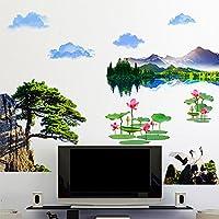Wu0026ZCH 3D Flüsse Und Berge Wandaufkleber PVC Material Baum Blume Wand Kunst  Für Wohnzimmer Schlafzimmer Dekoration