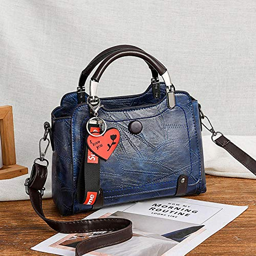Fyyzg Damen Umhängetasche Europe and America Big Bag - blau