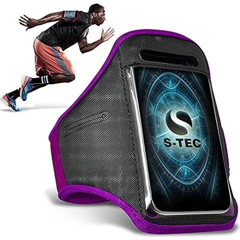 HTC REZOUND Armbands - ( Purple ) Universal Sports Running Action Mobile Phone Armband Holder ( HTC REZOUND fasce da braccio - ( Viola ) Sport universale in esecuzione azione cellulare titolare con fascia da braccio )