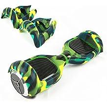 Wisamic Funda protectora para patinete eléctrico autoequilibrante de dos ruedas, 6,5 pulgadas, Verde y negro