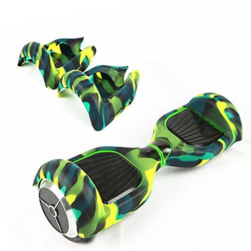 Wisamic Silikon Schutzhülle für 6,5 Zoll Smart Self Balancing Elektro Scooter Hoverboard (Grün und Schwarz)