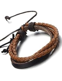 46b1697b92e0 Amazon.es  pulseras de cuero hombre - Brazaletes   Pulseras  Joyería