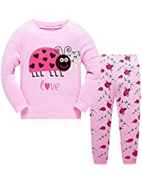 270d8a1e8c Girls Christmas Pyjamas Set Toddler Clothes Sleepwear Animal Printed Nightwear  Winter Long Sleeve PJs 2 Piece