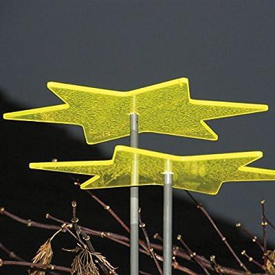 Licht & Laune ® Stern zitronengelb mit Schwingstab von Garten Bronder bei Du und dein Garten