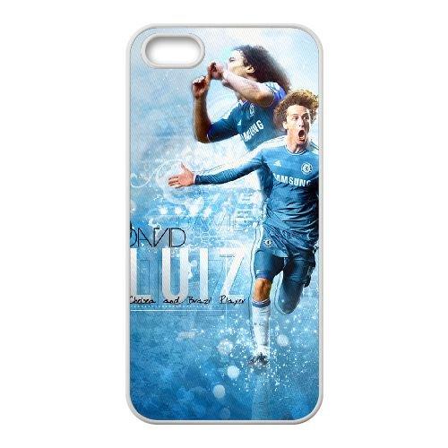 David Luiz coque iPhone 4 4S Housse Blanc téléphone portable couverture de cas coque EBDXJKNBO13146