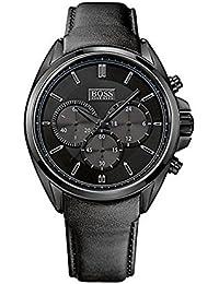 Hugo Boss 1513061 - Reloj de pulsera hombre, piel, color negro