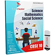 LearnFatafat CBSE Class 10 Full Video Course - Science, Mathematics and SST (PenDrive)