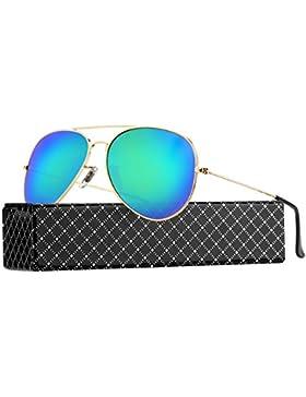 PROKING Gafas de Sol mujer hombre Polarizadas Retro Estilo gafas UV400 gafas de sol Gafas Vintage del Metal de...