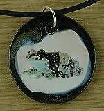 Echtes Kunsthandwerk: Hübscher Keramik Anhänger mit einem Laubfrosch; Baumsteigerfrösche, Dendrobatidae, Pfeilgiftfrösche, Farbfrösche, giftig
