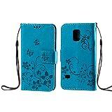zoeview S5 Mini hülle Leder Flip Case PU Ledertasche Minimalismus Schutzhülle case mit Standfunktion und Karte Halter für Samsung Galaxy S5 Mini (Brau)