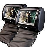 2 x EinCar 9 Poggiatesta DVD Player supporto per monitor USB / SD / IR / FM con controller video gioco di visualizzazione dello schermo Inch Digital