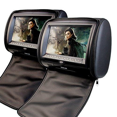 2 x EinCar 9 Poggiatesta DVD Player supporto per monitor USB/SD/IR/FM con controller video gioco di visualizzazione dello schermo Inch Digital