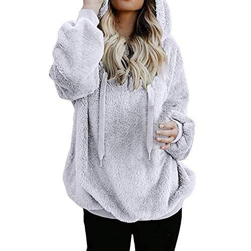 Manadlian Damen Mantel Winterjacke Frauen Sweatshirt Winter Mit Kapuze Mantel Warme Wolle...