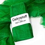 Dekostoff / Organzastoff grün