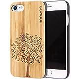 GOWOOD Coque iPhone 7 et 8 en Bois | Coque en Bois de Bambou avec Gravure Arbre -...