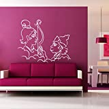 DreamKraft Ram N Hanuman Wall Sticker For Kids Room |Living Room|Bedroom|Office PVC Vinyl Art Decals(34X26 Inch)