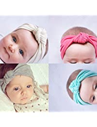 TaoNaisi Bandas pelo bebe,Bebé Venda De Pelo De Arco Para Niñas Banda Para La Cabeza Color Sólido Diadema Elástica Turbante