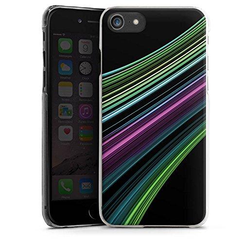 Apple iPhone X Silikon Hülle Case Schutzhülle Muster Gestreift Streifen Hard Case transparent