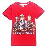 SERAPHY T-Shirt en Coton à Manches Courtes Fortnite T-Shirts Enfants Merveilleux Cadeaux pour Les Garçons Rouge-93 140