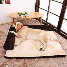 Sofá cama rectangular con cojín deluxe para gatos y perros de todos los tamaños, ...