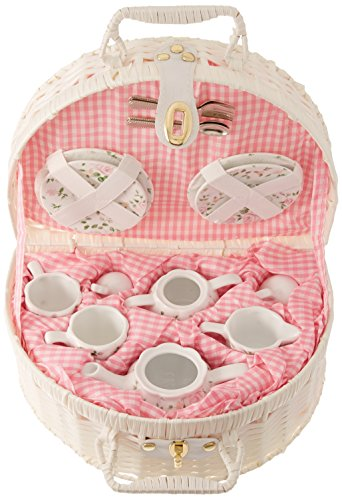 Delton Products Pink Chintz Children's Tea Set for Two Pink Chintz