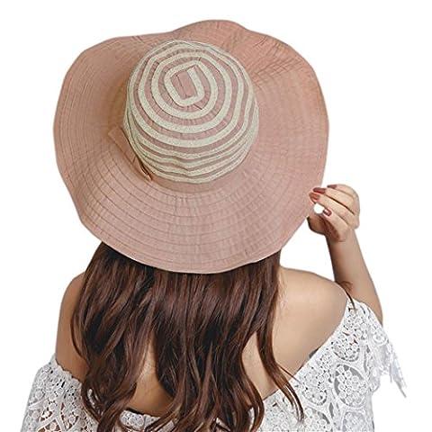Capelines Kolylong Fille d'été Femmes Wide Brim Chapeau de soleil