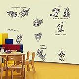 Adesivi Murali Rimovibili Formaggio Gatto Camera Dei Bambini Cartone Animato Soggiorno Camera Da Letto Sfondo Decorazione Adesivi Adesivi Murali Adesivi Carta Da Parati110 * 80 Cm
