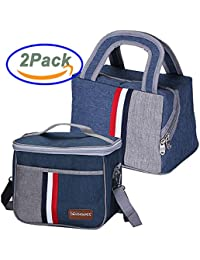 Insulated Lunch Box Cooler Bag Tote School (Set Of 2 Sizes) For Women Kids Men