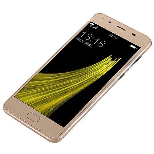 Smartphones,YULAND 5''Ultrathin Android 5.1 2G + 8G Viererkabel 4G / GSM WiFi Bluetooth Doppel-Téléphone intelligent (Khaki)