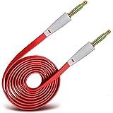 (Rot) LG G3 3,5 mm Klinke Um Jack Flachkabel AUX AUX-Audiokabel führen von Spyrox