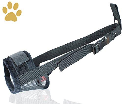 Nylon Hund Maulkorb, Einstellbare atmungsaktive Sicherheit Haustier Hund Maulkörbe Anti-Biss Anti-Bellen Anti-Kauen Sicherheitsschutz, geeignet für kleine mittlere große Hund, einfach zu bedienen -